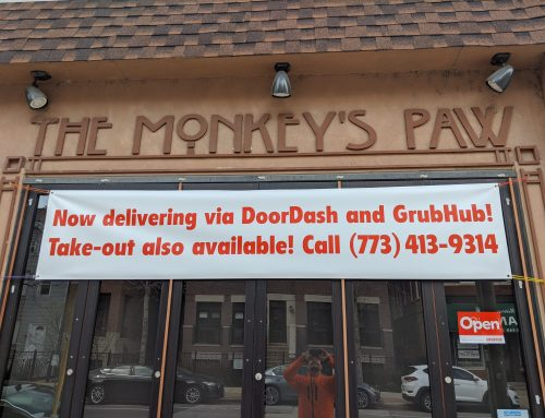 The Monkey's Paw Restaurant Outdoor Signage